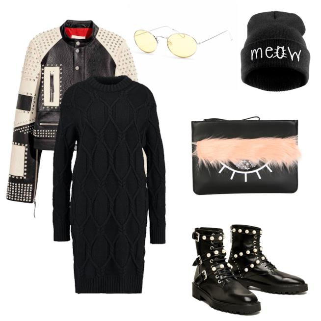 Idee outfit total black budget 500 euro