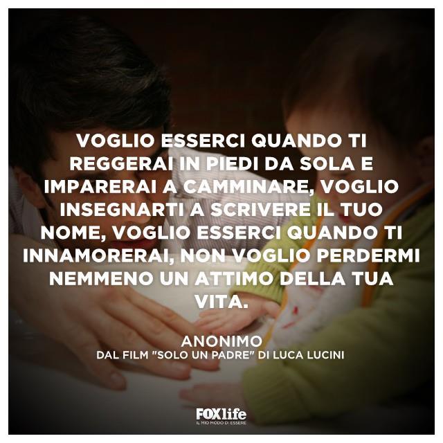 """Luca Argentero nel film """"Solo un padre"""" dedica alla  figlia Sofia questa citazione"""