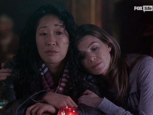 L'abbraccio affettuoso tra Meredith e Cristina
