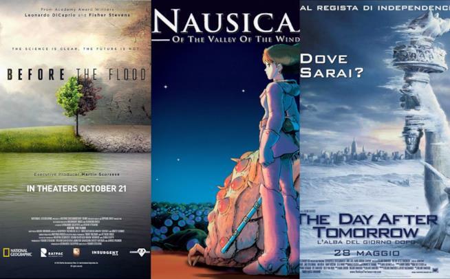 I poster di Nausicaa della valle del tempo, before the flood e the day after tomorrow