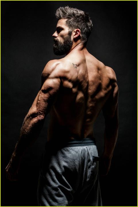 La schiena muscolosa di Brant Daugherty