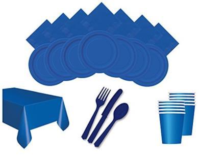 Set per festa color blu