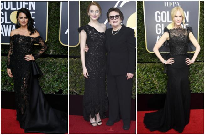 Tre outfit di pizzo ai Golden Globes