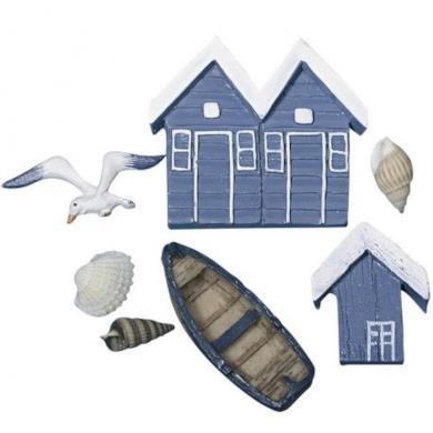 Set 4 piccoli oggetti decorativi
