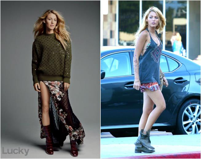 Blake Lively in due outfit