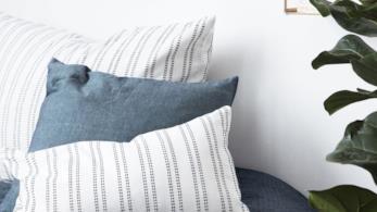 House Doctor, collezione di tessuti, cuscini e imbottiti per la casa decorati a righe