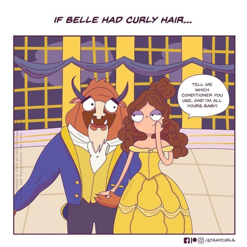 Belle nella vignetta di Angela Mary Vaz