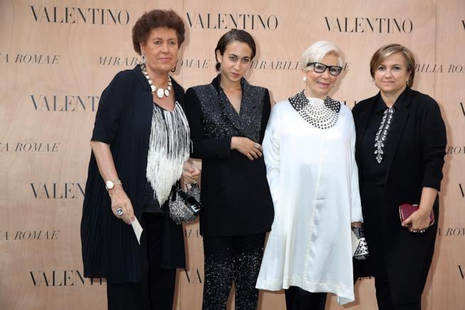 Carla Fendi, Delfina Delettrez Fendi, Anna Fendi e Silvia Venturini Fendi alla settimana della moda di Roma