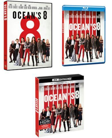 Ocean's 8 DVD, BluRay, 4K Ultra HD