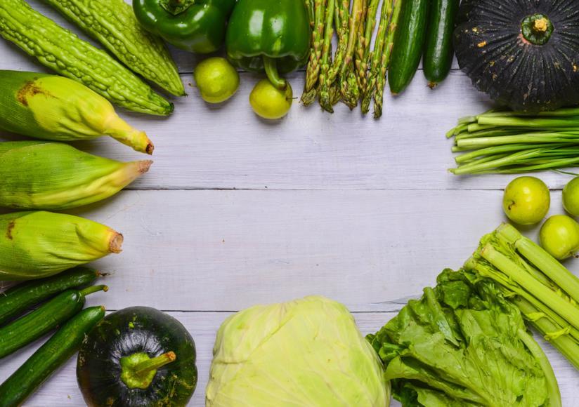 Frutta e verdura verdi