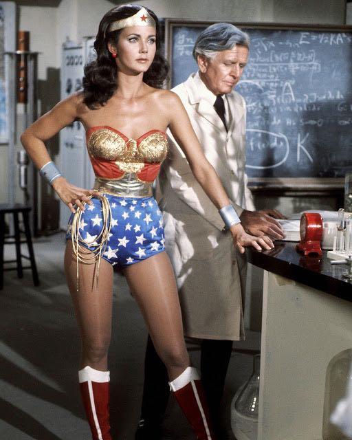 Lynda Carter nella serie TV Wonder Woman