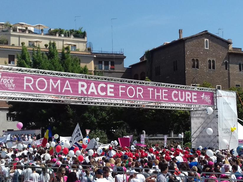 Partenza maratona Roma Race for the Cure