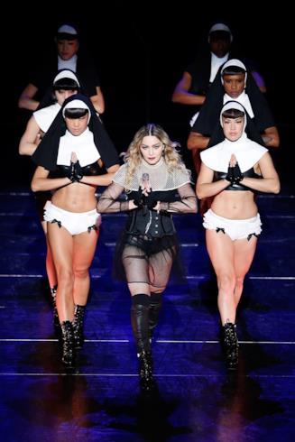 Un momento del Rebel Heart Tour di Madonna