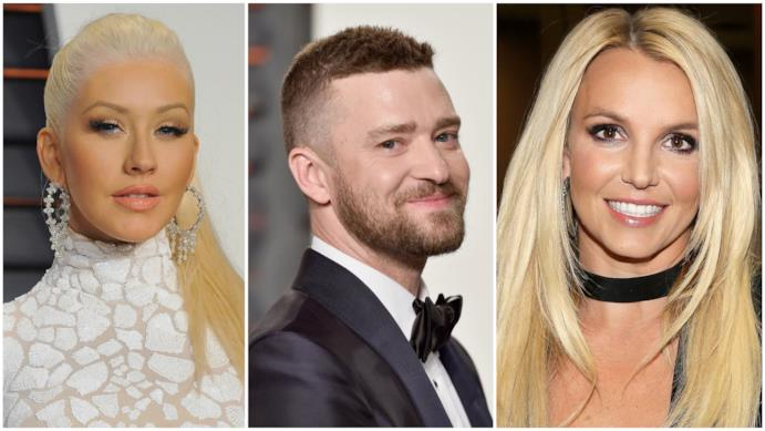 Christina Aguilera, Justin Timberlake e Britney Spears