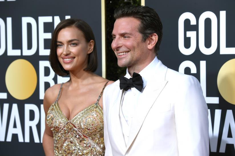 Irina Shayk e Bradley Cooper ai Golden Globes