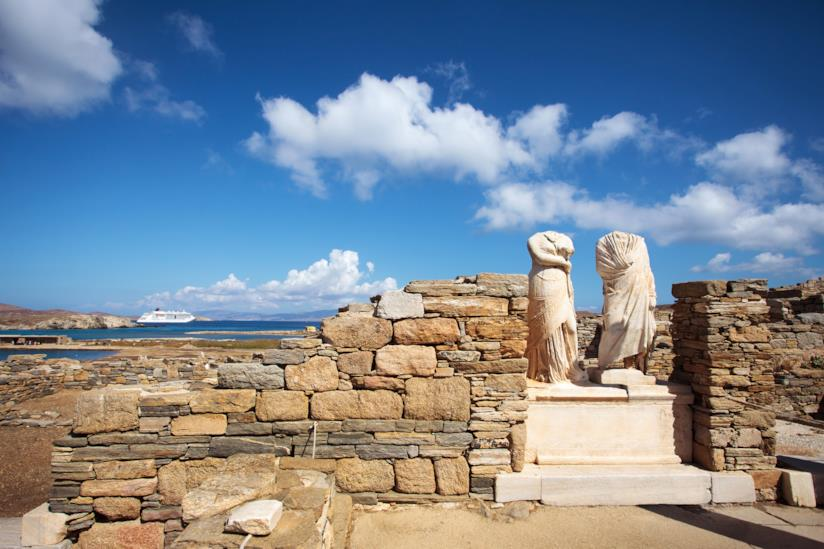Rovine di Cleopatra House a Delo
