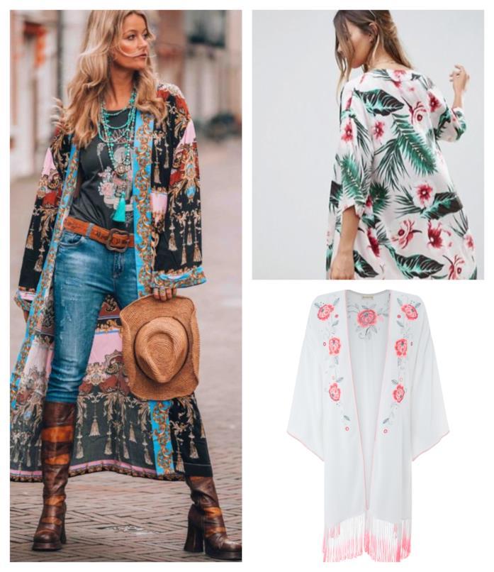 Con le frange, il kimono di tendenza P/E 2018