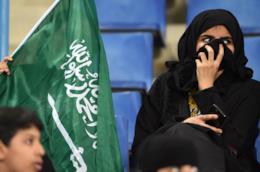 Donna saudita allo stadio