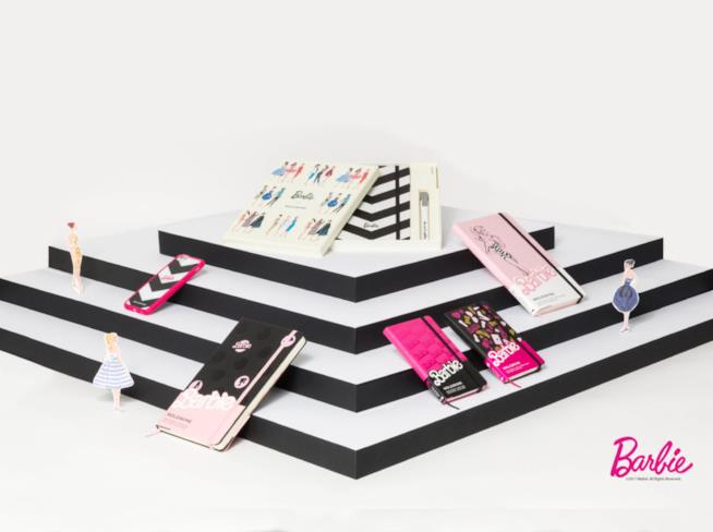 Le Moleskine ispirate a Barbie