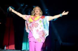 Romina Power durante uno spettacolo