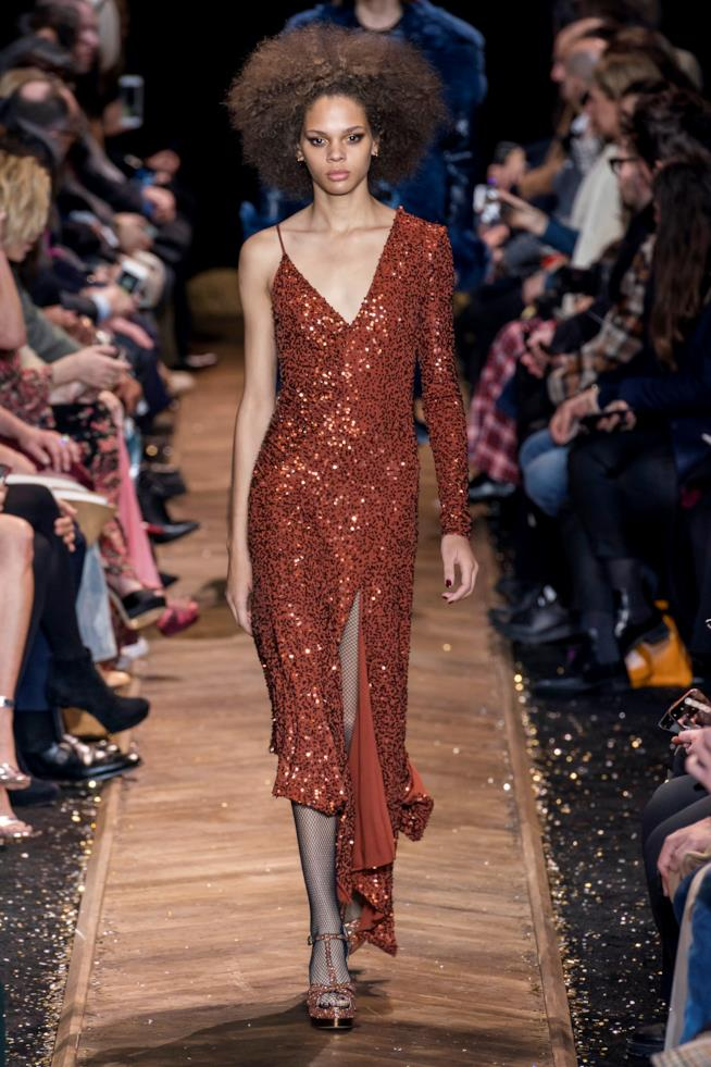 Abito di Paillettes Michael Kors New York Fashion Week 2019 20