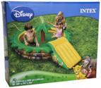 Disney - Piscina gonfiabile a 3 anelli, con scivolo il re leone