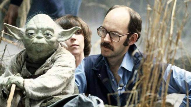 Yoda e il suo burattinaio Frank Oz