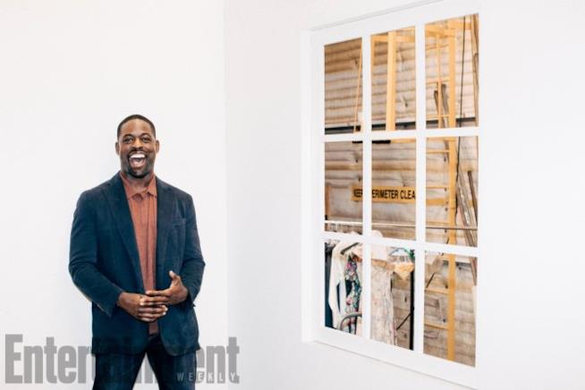Sterling K. Brown sul set di This Is Us