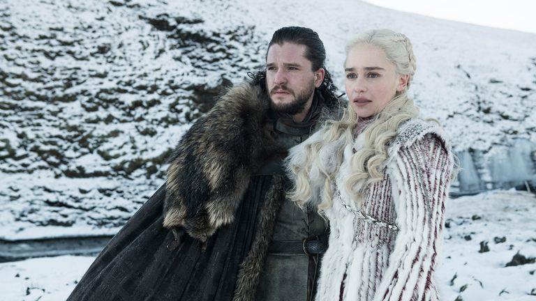 Jon e Daenerys in Game of Thrones