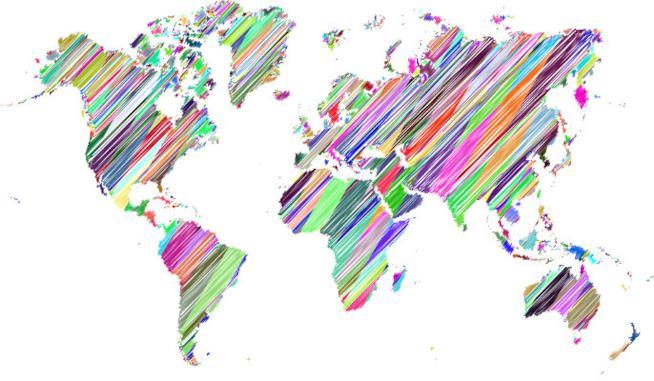 Cartina dei Paesi del mondo
