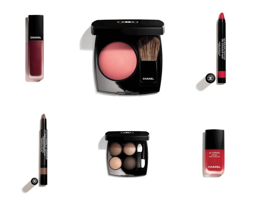 Alcuni prodotti della nuova collezione make-up di Chanel