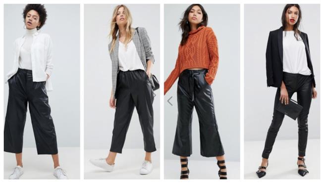 In similpelle i pantaloni di tendenza autunno inverno 2018 93760038d67
