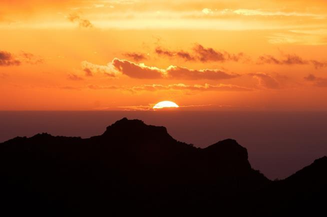 Tramonto sul mare di Tenerife