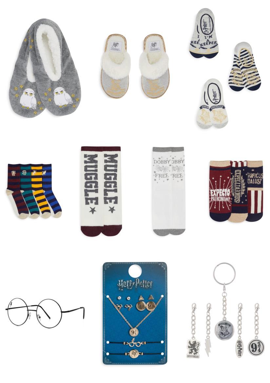 calzini, ciabatte e accessori a tema Harry Potter di  Primark