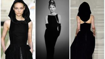 Collage tra sfilata Givenchy e tubino Audrey