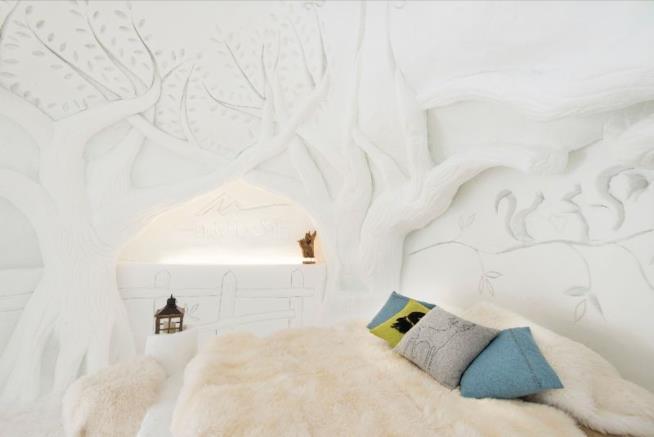 Camere di ghiaccio d'artista: ecco lo chalet della Snow Dream Experience