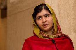 Malala Yousafzai in primo piano