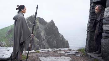 Rey e Luke in The Last Jedi
