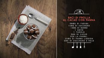 Baci al cacao e panna