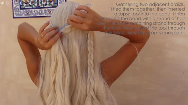 Trecce posteriori Daenerys Targaryen