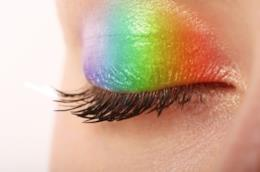 Trucco occhi arcobaleno