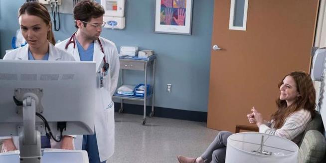 L'ex infermiera Olivia con Jo Wilson in Grey's Anatomy