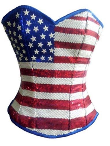 USA Flag Corset