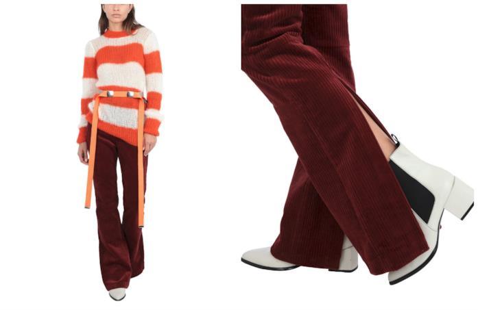 In velluto a coste, i pantaloni di tendenza