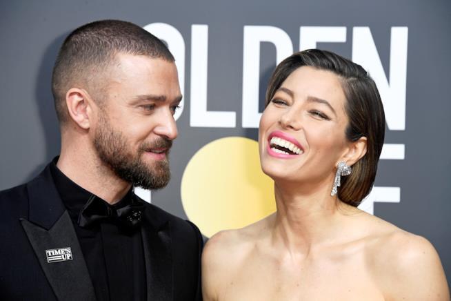 Justin Timberlake e Jessica Biel in primo piano