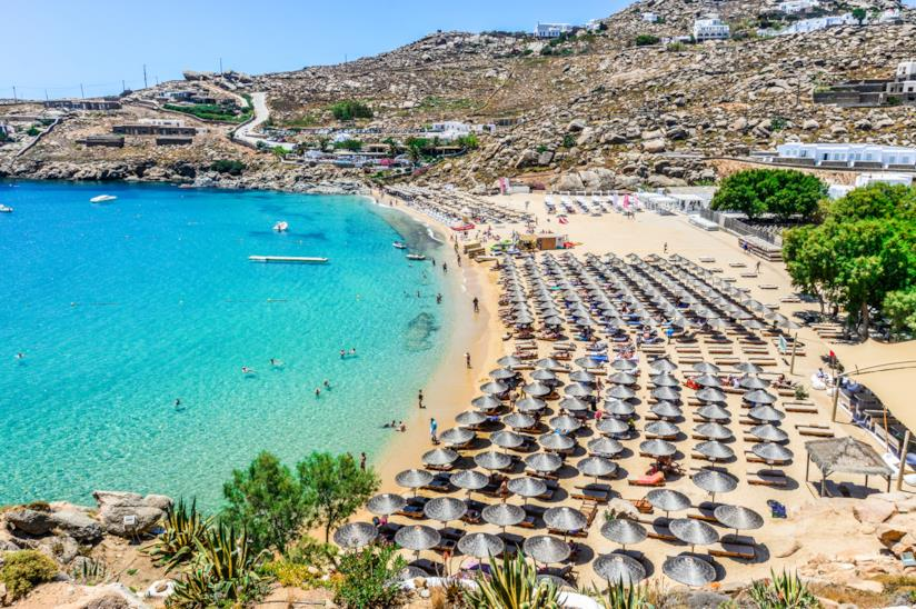Spiaggia di Super Paradise, Mykonos