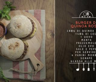 Burger di quinoa rossa
