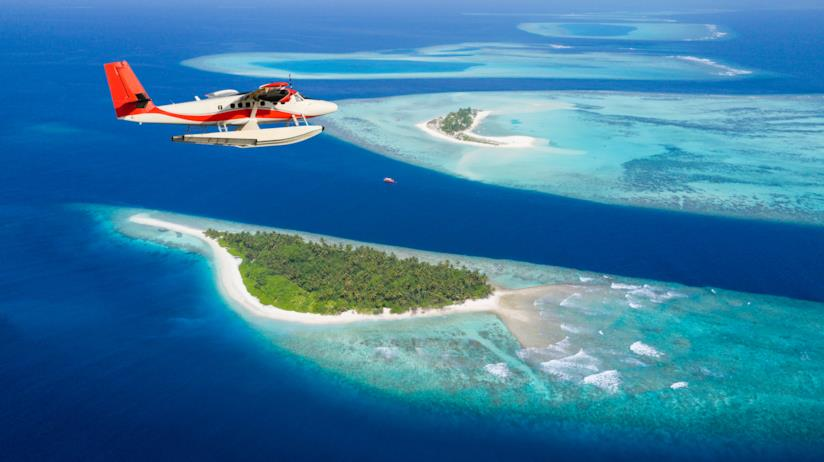 Isole delle Maldive viste dall'alto