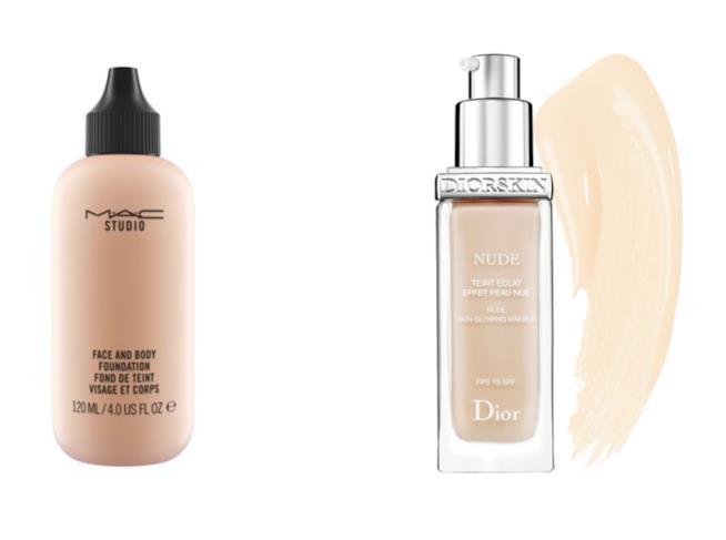 Fondotinta Face and Body e Diorskin Nude