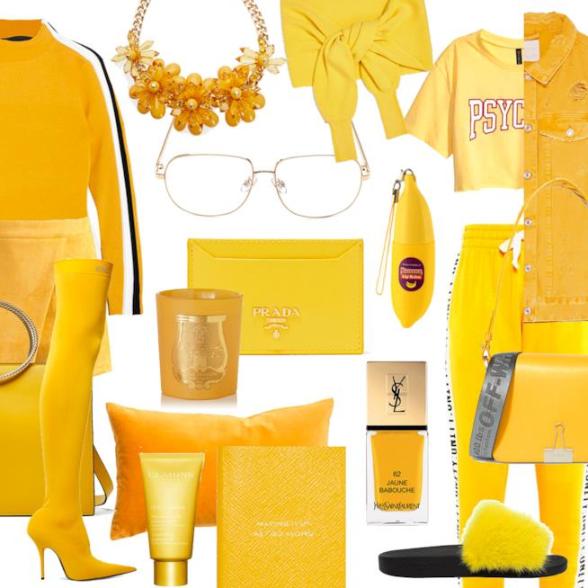 Come vestirsi in total yellow